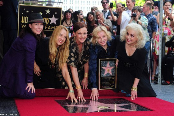 The band received the 2,444th star on the Hollywood Walk of Fame