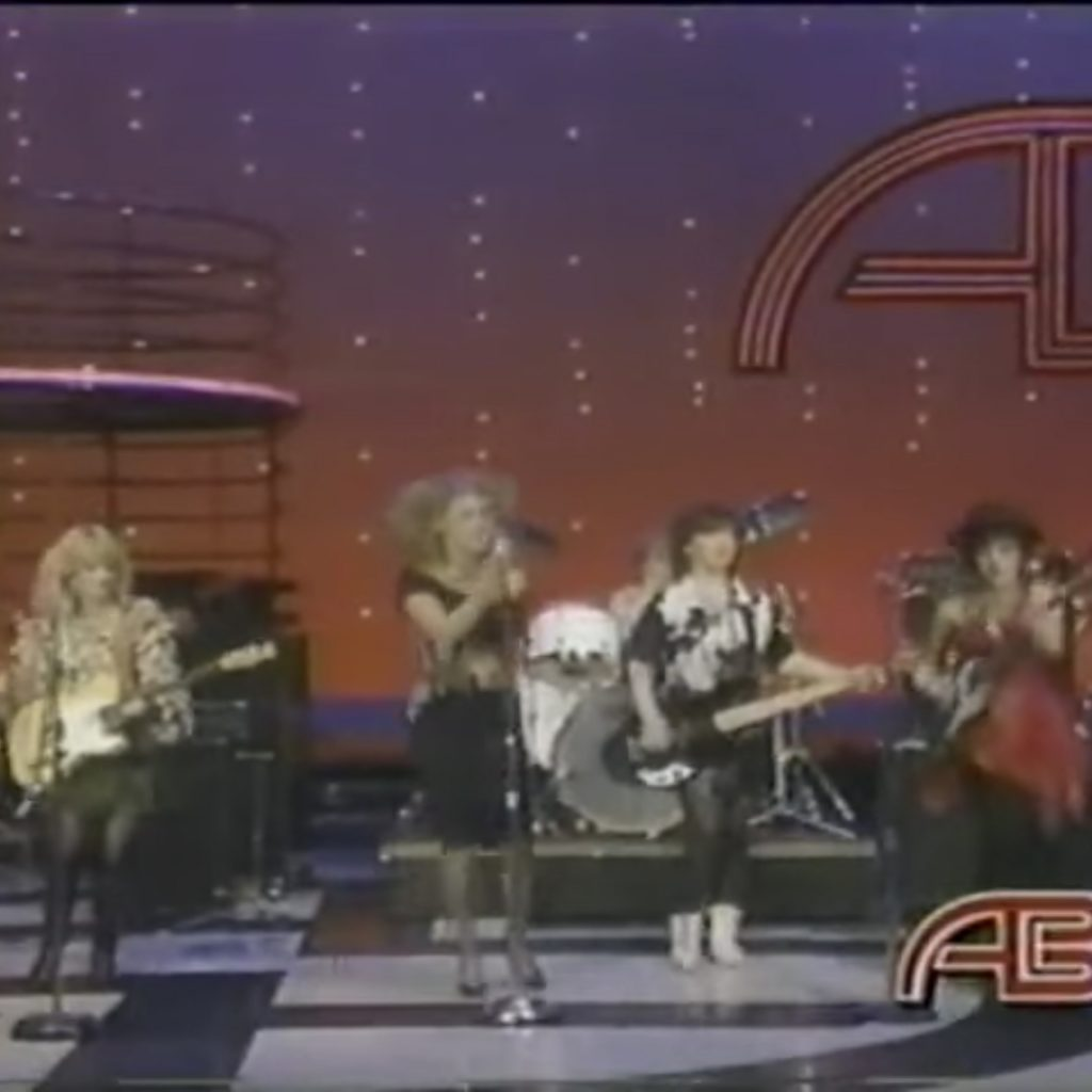 """The Go Go's perform """"Our Lips Are Sealed"""" & """"We Got The Beat"""" on American Bandstand"""